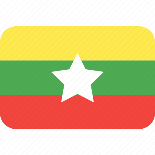 country, flag, myanmar, nation icon