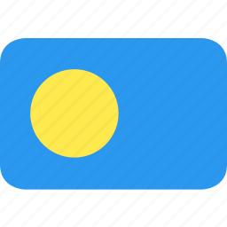 country, flag, nation, palau icon