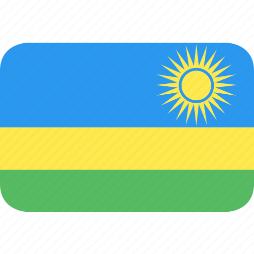 country, flag, nation, rwanda icon
