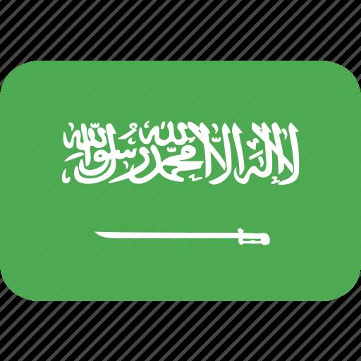 arabia, country, flag, nation, saudi icon