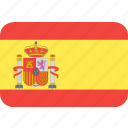 country, flag, spain, nation