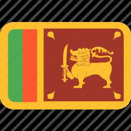 country, flag, lanka, nation, sri icon