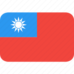 country, flag, nation, taiwan icon