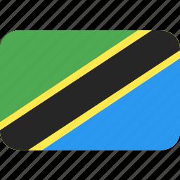 country, flag, nation, tanzania icon