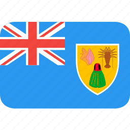 and, caicos, country, flag, islands, nation, turks icon
