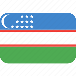 country, flag, nation, uzbekistan icon