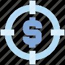 aim, audience targeting, business, dollar, focus, goal, target