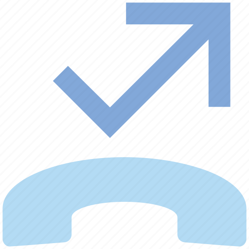 Arrow, call, communication, contact, landline, phone, telephone icon - Download on Iconfinder