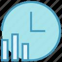 analytics, clock, data, graph, report, statistics, time icon