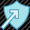 antivirus, arrow, protect, security, shape, shield