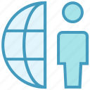 globe, internet, man, network, user, world