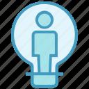 bulb, creative, idea, light, office, user