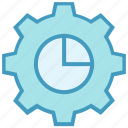 chart, cogwheel, gear, option, setting