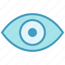 eye, show, view, visibility, vision, visual, watch icon