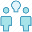 bulb, creative, employees, idea, office, online business, users icon