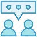 employees, office, peoples, talking, users, worker icon