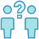 employees, help, people, question mark, sign, users icon