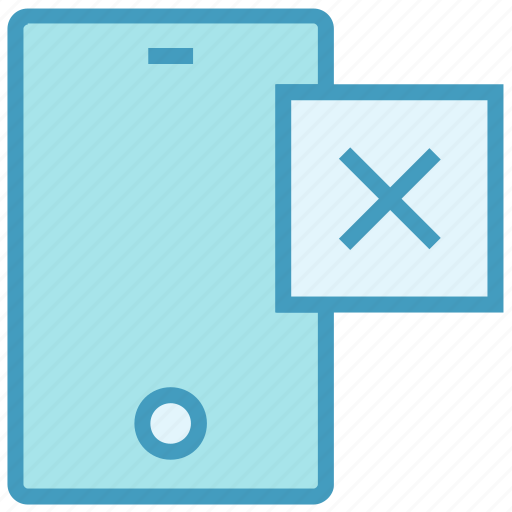 cell phone, cross, device, mobile, phone, reject, smartphone icon