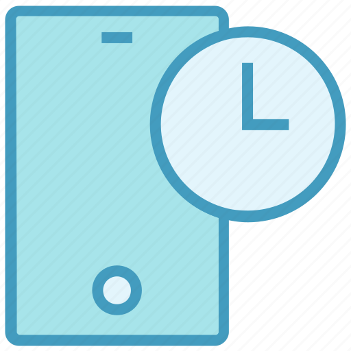 cell phone, clock, device, mobile, phone, smartphone, time icon