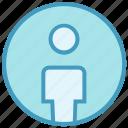 account, circle, interface, male, person, profile, user icon