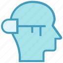 head, human head, key, lock, mind, silhouette, thinking icon