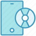 cd, cell phone, device, disc, mobile, phone, smartphone icon