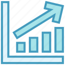 analytics, bar, chart, graph, stats, up icon