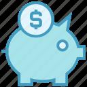 bank, cash, dollar, piggy, piggy bank, safe, saving icon