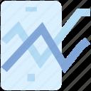 analytics, bar, chart, graph, mobile, phone, stats