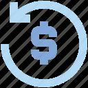 arrows, cash, dollar, refresh, sync, turnover, update