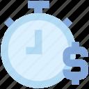 clock, countdown, deadline, dollar, money, stopwatch, timer