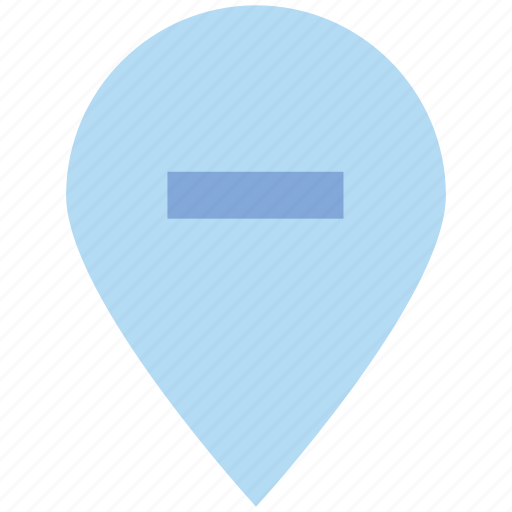 gps, location, map, minus, navigation, pin, point icon