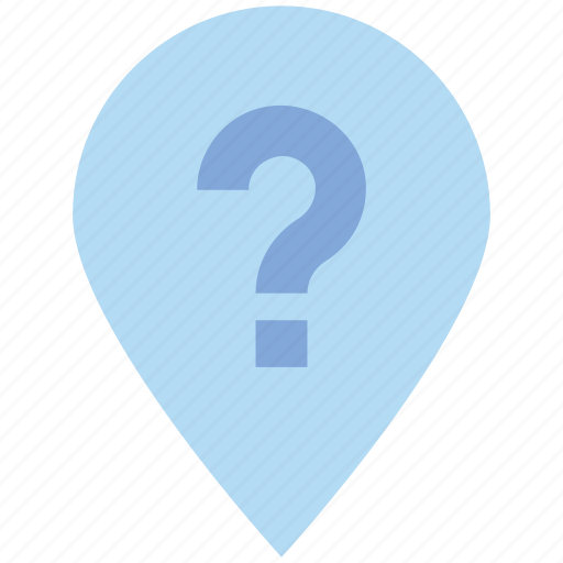 Gps, location, map, navigation, pin, point, question mark icon - Download on Iconfinder