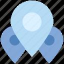 gps, locations, map marker, map pin, navigation, pins, three