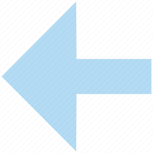 arrow, direction, left, left arrow, previous icon
