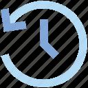 arrow, clock, optimization, sync, time, watch icon