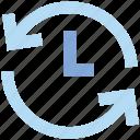 arrows, clock, optimization, sync, time, watch icon