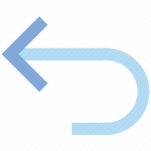 arrow, left, material, rotate icon