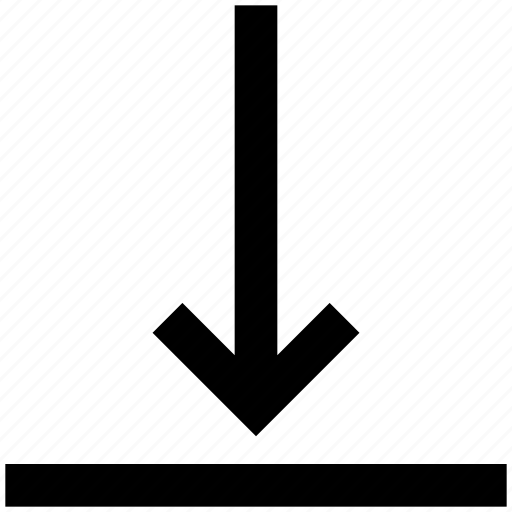 arrow, down, down arrow, downloading icon