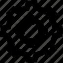 bulls eye, cogwheel, darts, focus, gear, setup, target icon