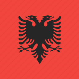 albania, country, flag, nation icon