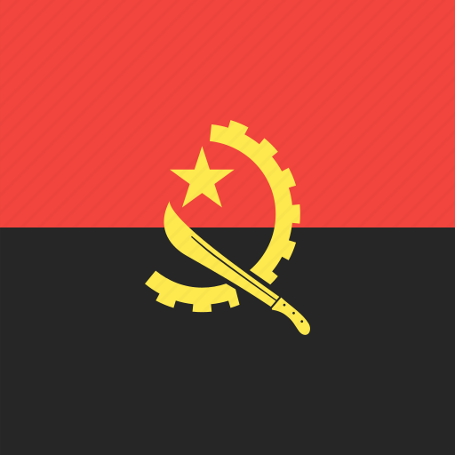 angola, country, flag, nation icon