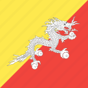 bhutan, country, flag, nation