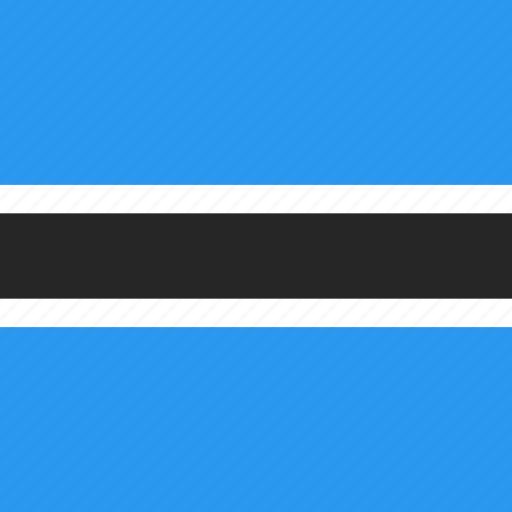 botswana, country, flag, nation icon