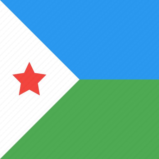 country, djibouti, flag, nation icon
