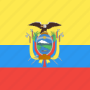 country, ecuador, flag, nation icon