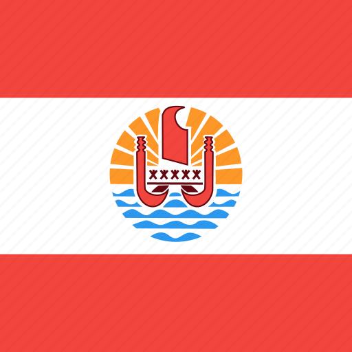 country, flag, french, nation, polynesia icon