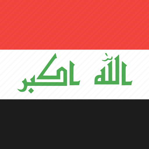 country, flag, iraq, nation icon