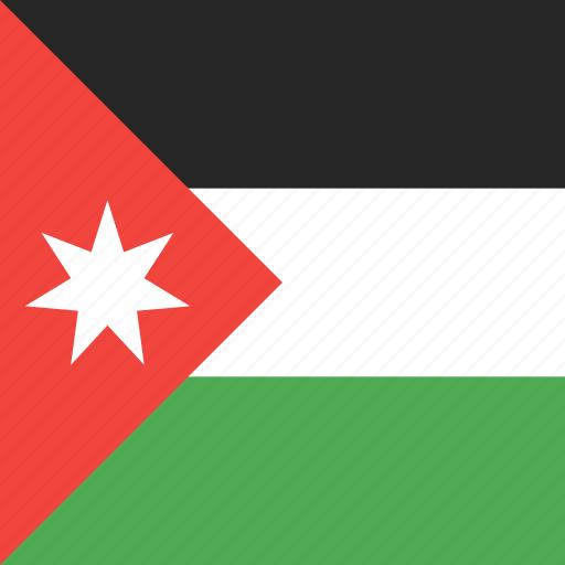 country, flag, jordan, nation icon