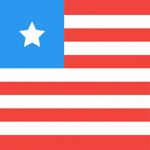 country, flag, liberia, nation icon